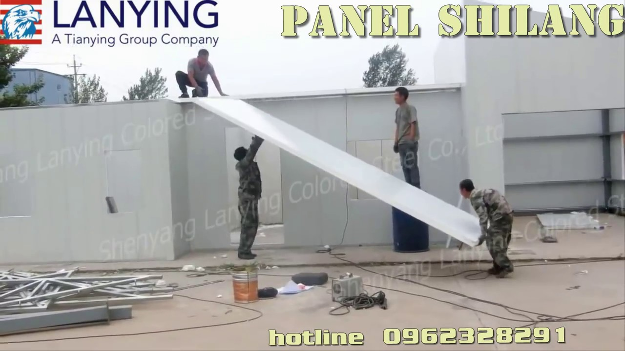 Thi công nhà lắp ráp bằng tấm panel EPS cách nhiệt, cách âm