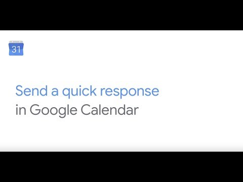 How To: Send a quick response in Google Calendar