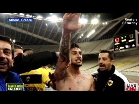 Soccer player gives Nazi salute on field