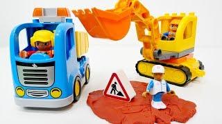 Lego Duplo'dan iş makineleri yapıyoruz. Anaokulu Oyunları