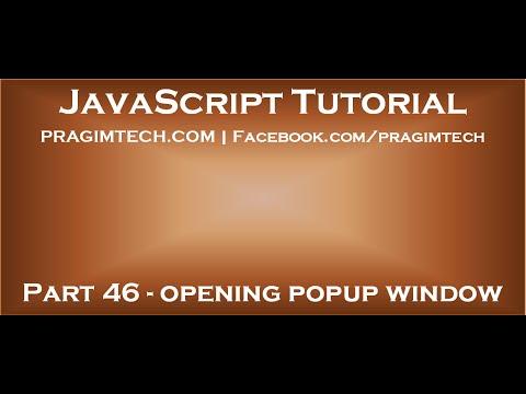 JavaScript popup window