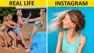 17 INSTAGRAM HACKS AND PHOTO DIY || Instagram vs Real Life by Mr Degree