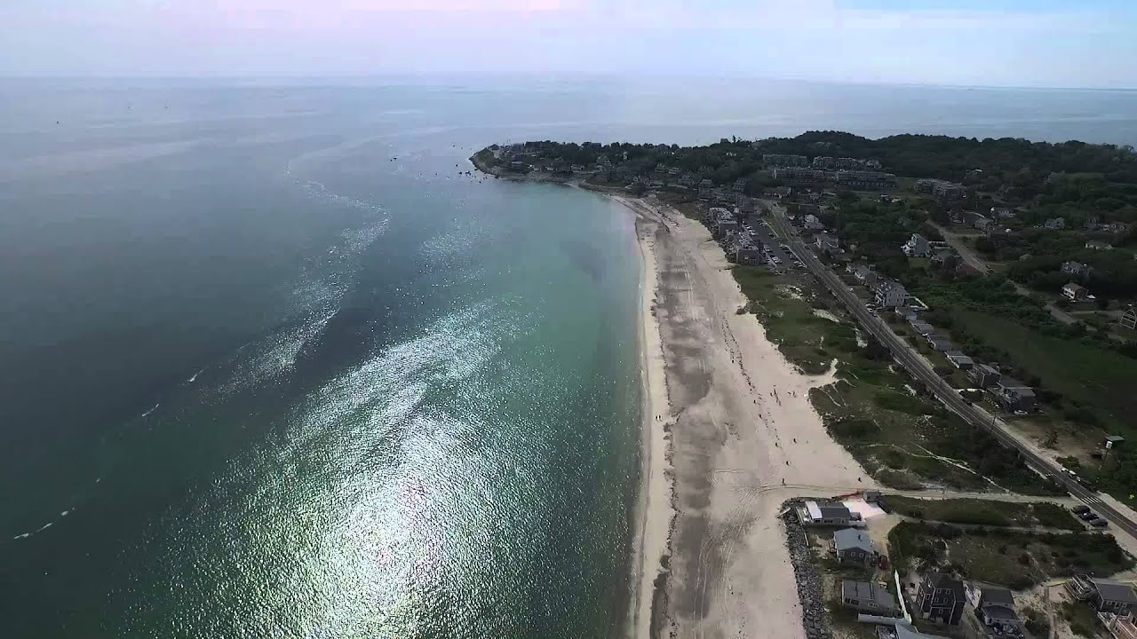 Drone Aerial Farewell White Horse Beach Plymouth Ma