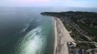 Drone Aerial Farewell White Horse Beach Plymouth, MA
