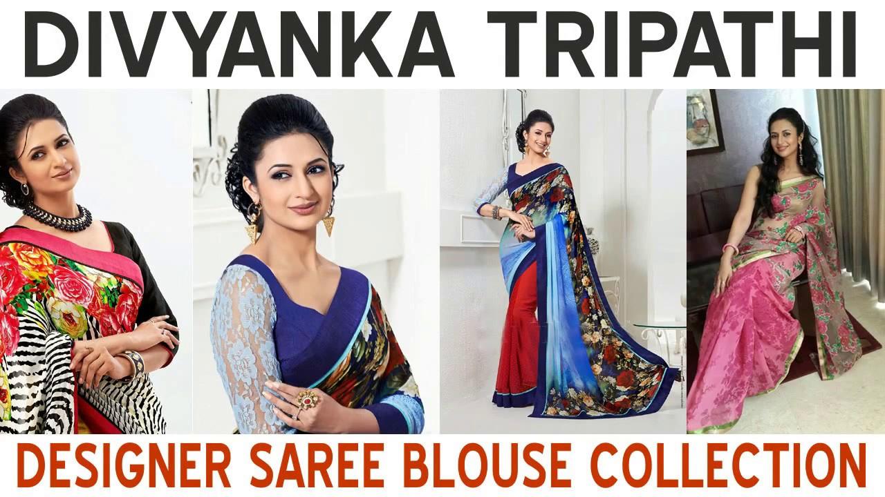 2b4ec0d2585ce2 Divyanka Tripathi aka Ishita Designer Saree Blouse Collection - YouTube