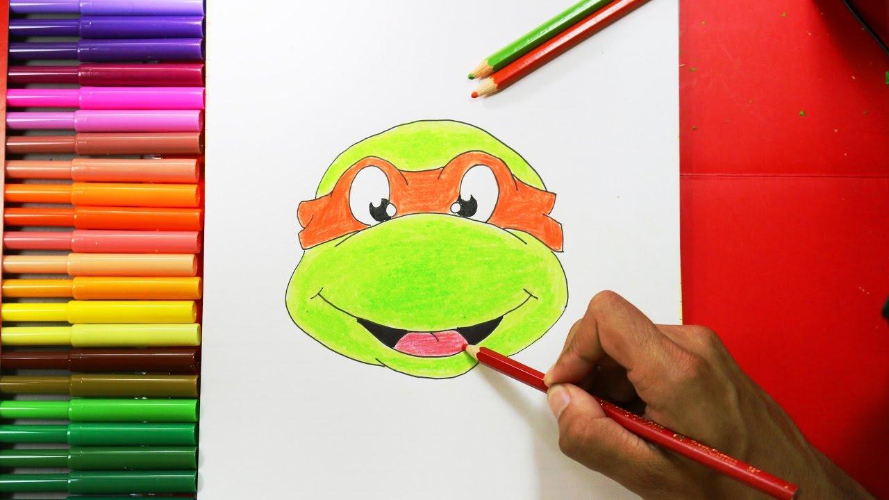 How To Draw A Ninja Turtle Como Dibujar Una Tortuga Ninja Youtube