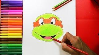 How to Draw a Ninja Turtle -  Cómo dibujar una tortuga ninja