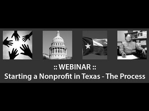 Starting A Nonprofit in Texas