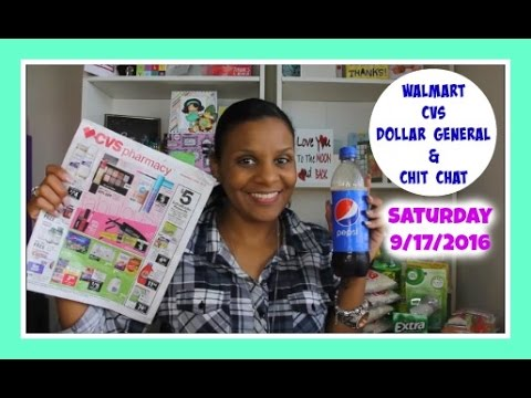Lets Chit Chat Saturday 9/17/16 | CVS , Dollar General & Walmart