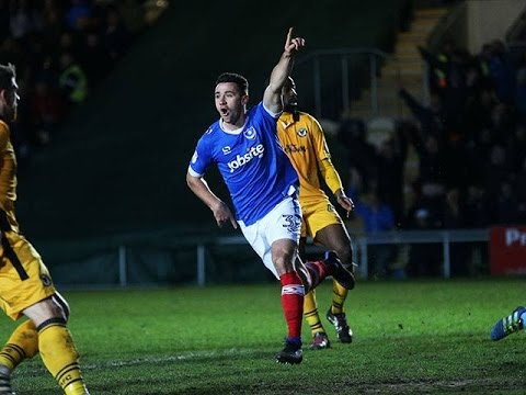 Enda Stevens scores first Pompey goal against Newport County