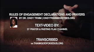 Rules of Engagement Declaration Prayer Textvideo | Dr. Cindy Trimm