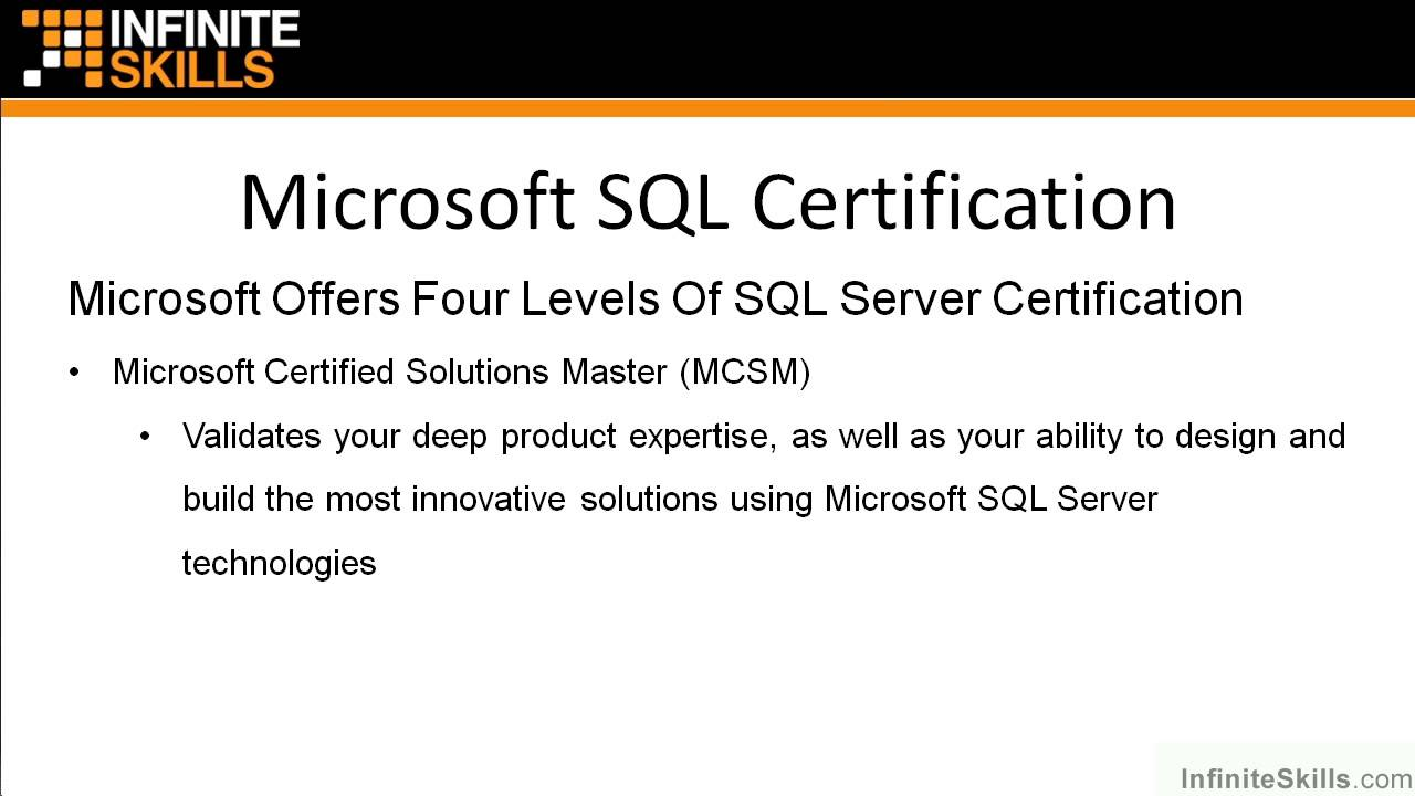 Microsoft sql server exam 70 461 tutorial microsoft sql microsoft sql server exam 70 461 tutorial microsoft sql certification youtube xflitez Gallery