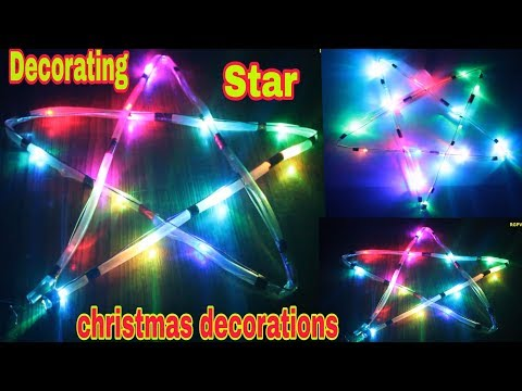 How to make decorated christmas star | Merry christmas decoration | क्रिसमस डेकोरेशन लाइट
