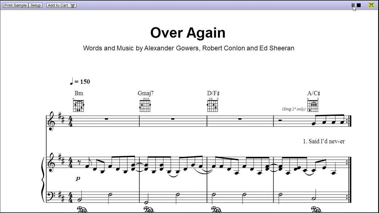 partition piano over again one direction