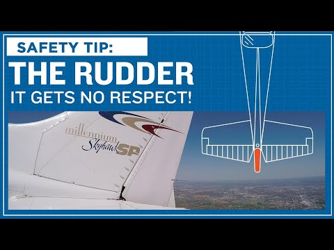 ASI Safety Tip: The Rudder - It Gets No Respect!