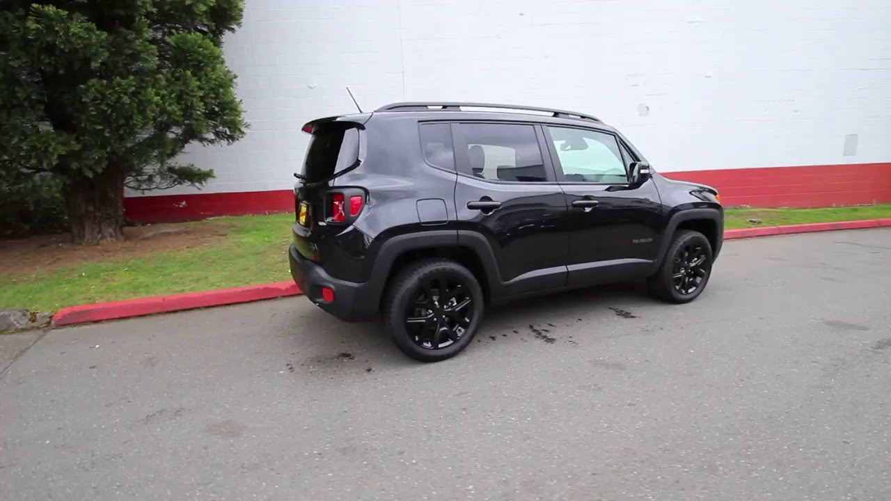 Blacked Out Jeep >> 2016 Jeep Renegade Dawn of Justice Edition | Black | GPC88061 | Redmond | Seattle - YouTube