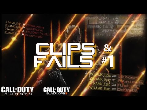 Butterfly Knife Quest!!!!!! | Clips and Fails #1 | BO3, Ghosts