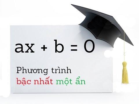 Phương trình bậc nhất một ẩn - Toán lớp 8 [Online Math - olm.vn]