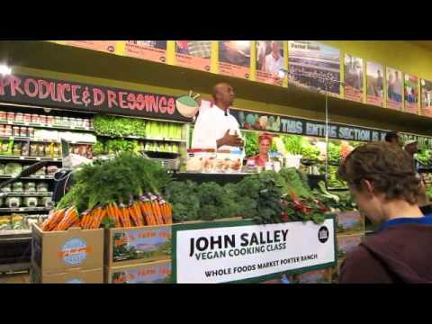 John Salley Vegan Cooking Class at Whole Foods Porter Ranch!