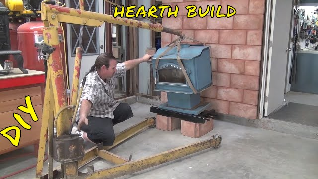Wood Stove Hearth Pad Build Install In The Workshop Ep 4 Of 7