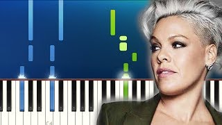 P!nk - Walk Me Home (Piano Tutorial) Video
