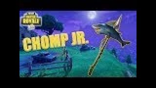 NEW Chomp Jr Gameplay Showcase Review - Shark Harvesting Tool Axe - Fortnite Battle Royale