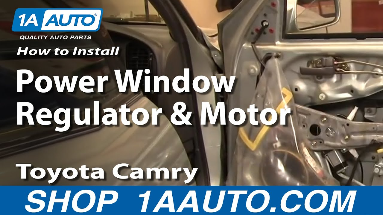 How to install replace power window regulator and motor for 1995 toyota camry window regulator