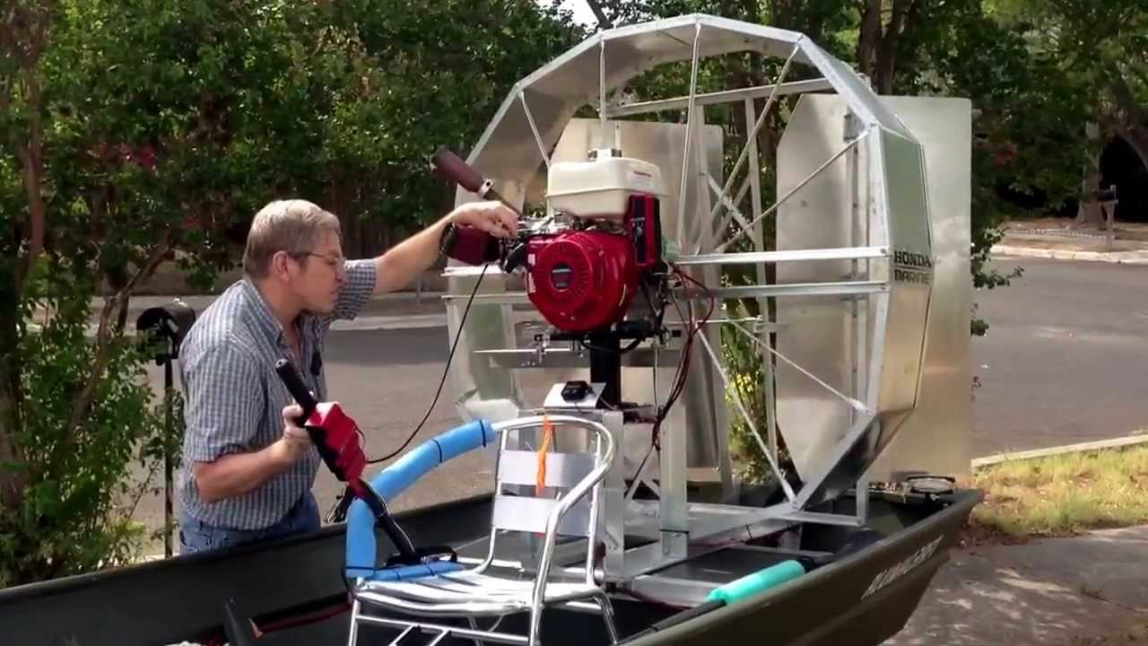 Air boat trial 2 youtube for How to build an airboat motor
