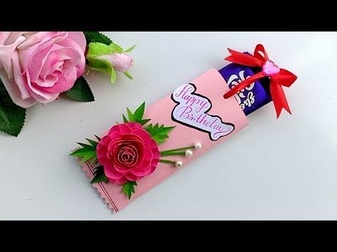 Handmade chocolate birthday card idea / Birthday gift idea.