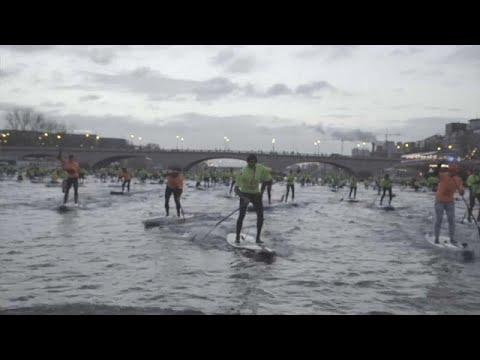 شاهد: 800 مجدف ببذلات صفراء يعبرون نهر السين  - نشر قبل 37 دقيقة