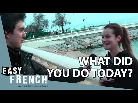 Easy French 62  - What did you do today? (Cannes)