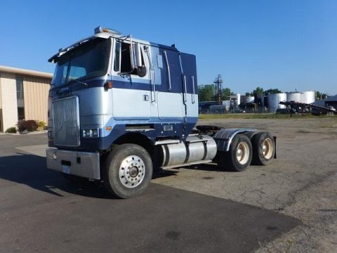 1990 White GMC Semi | For Sale | Online Auction - YouTube