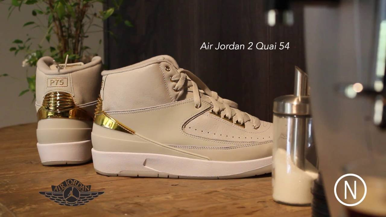 new product 3261a b56f9 On Feet Air Jordan 2 Quai54 NOIRFONCE Sneakers