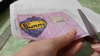 Cách làm squishy giấy 3d bịch kẹo đơn giản _Ngọc Thủy Channel