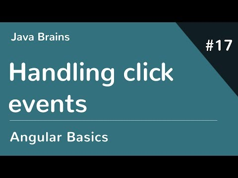 Angular 6 Basics 17 - Handling click events - YouTube