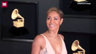 Jada Pinkett Smith dons feathered train for 2019 Grammy Awards