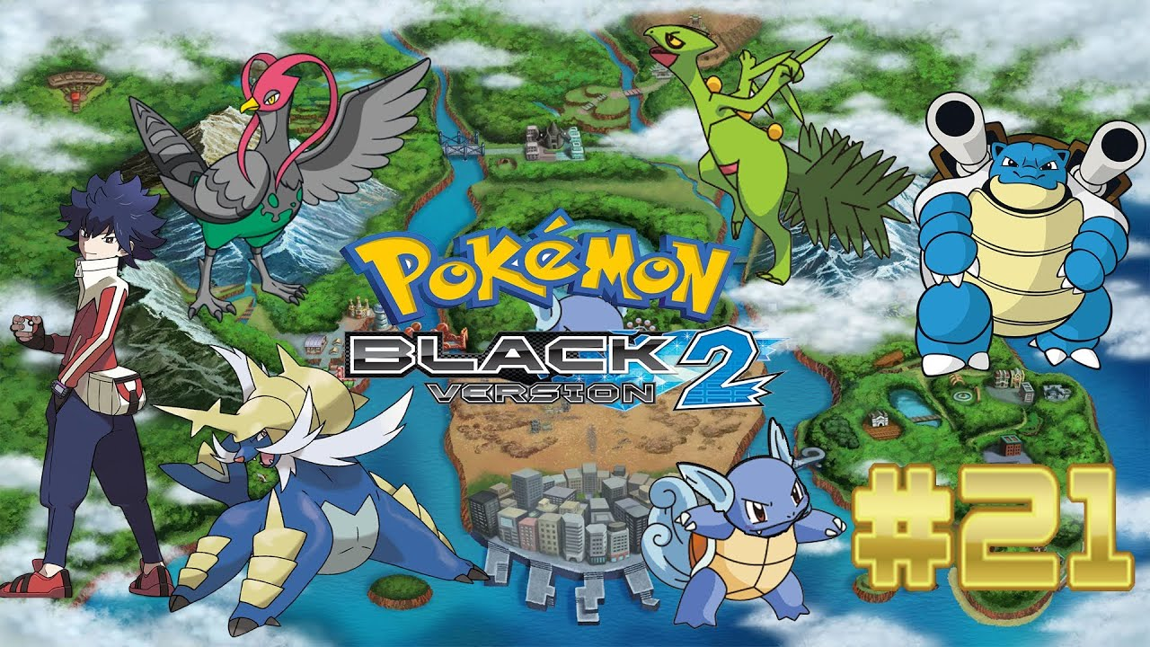 Pokemon Black 2 - Part 21: Rival Battle With Evolutions ...
