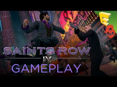 Saints Row 4 Gameplay Walkthrough and Interview with Steve Jaros! Adam Sessler at E3 2013