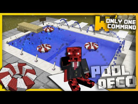 Minecraft - Swimming Pool Decorations With Only One Command Block