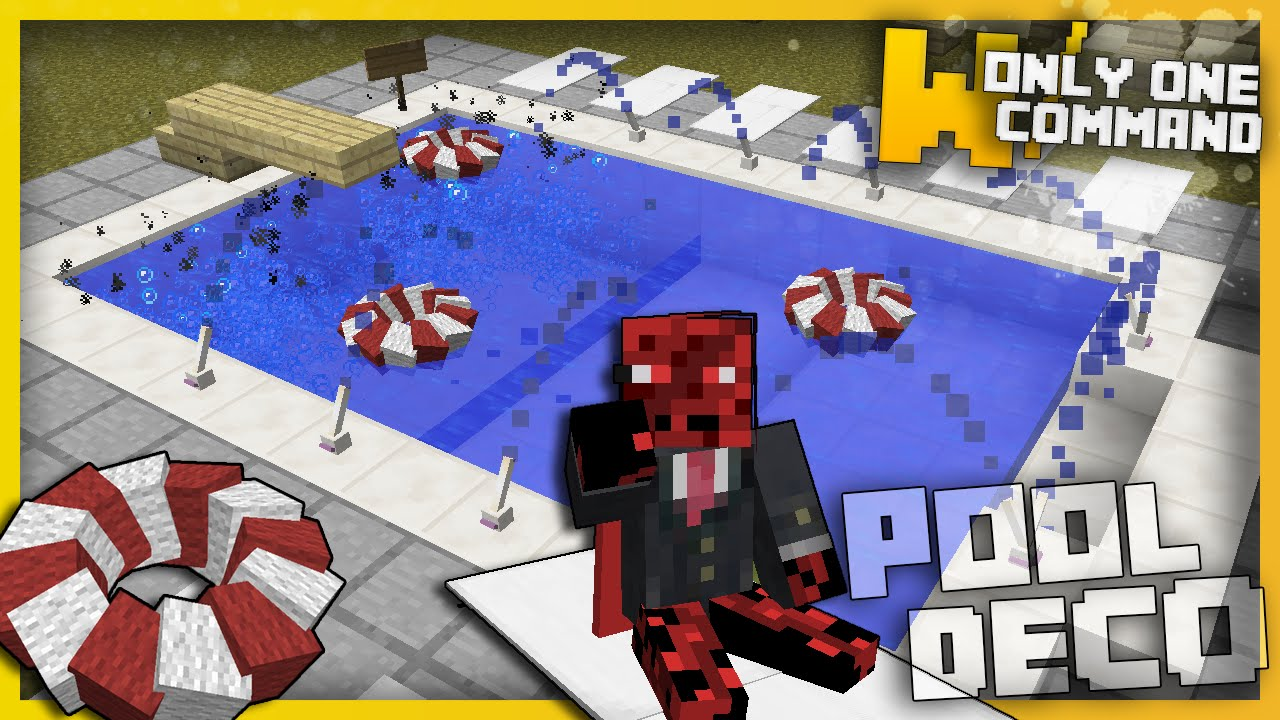 Minecraft Swimming Pool Decorations With Only One
