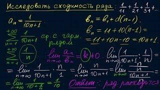 Числовые ряды-7. Признаки сравнения
