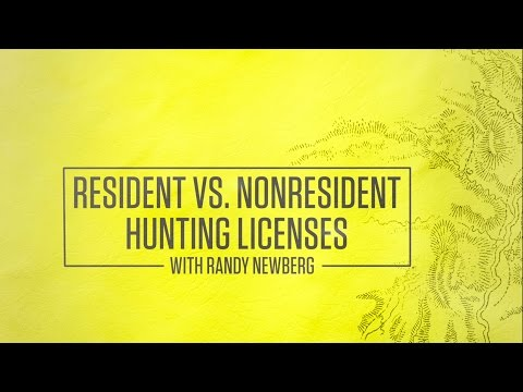 Resident Vs  Non-resident Hunting Licenses With Randy Newberg