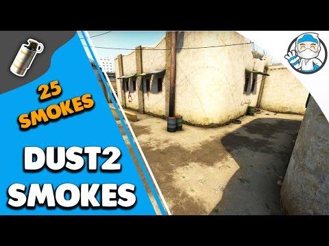 CS:GO - 25 Awesome Dust2 Smokes (Smoke Tutorial)