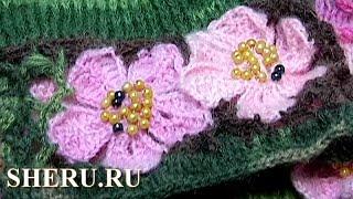 How To crochet Flat Flower Урок 19 Вязание Цветка крючком