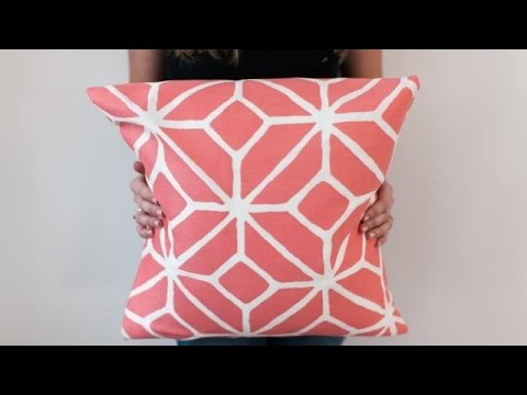 DIY NoSew Pillow Cover YouTube Extraordinary No Sew Decorative Pillows