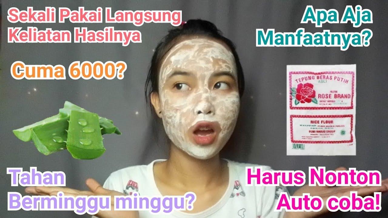 Masker Lidah Buaya Dan Tepung Beras Masker Alami Pencerah Wajah Youtube