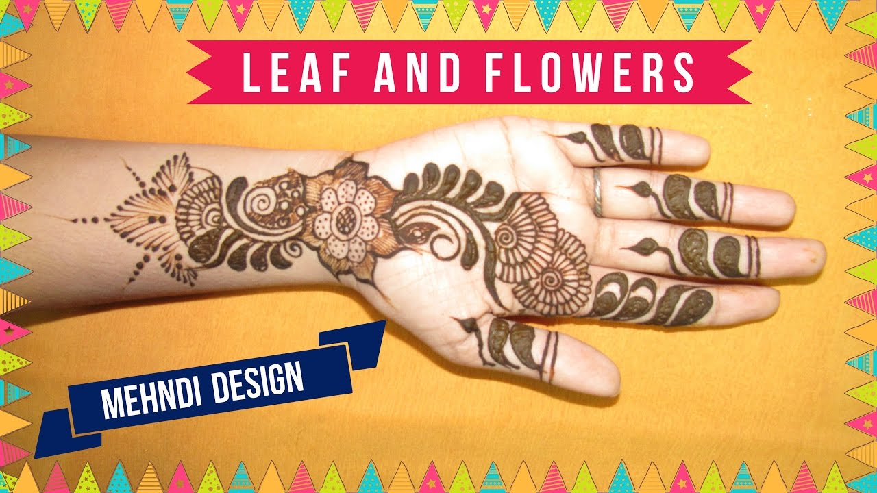 Easy And Simple Indian Mehndi Designs For Hands Pakistani Henna
