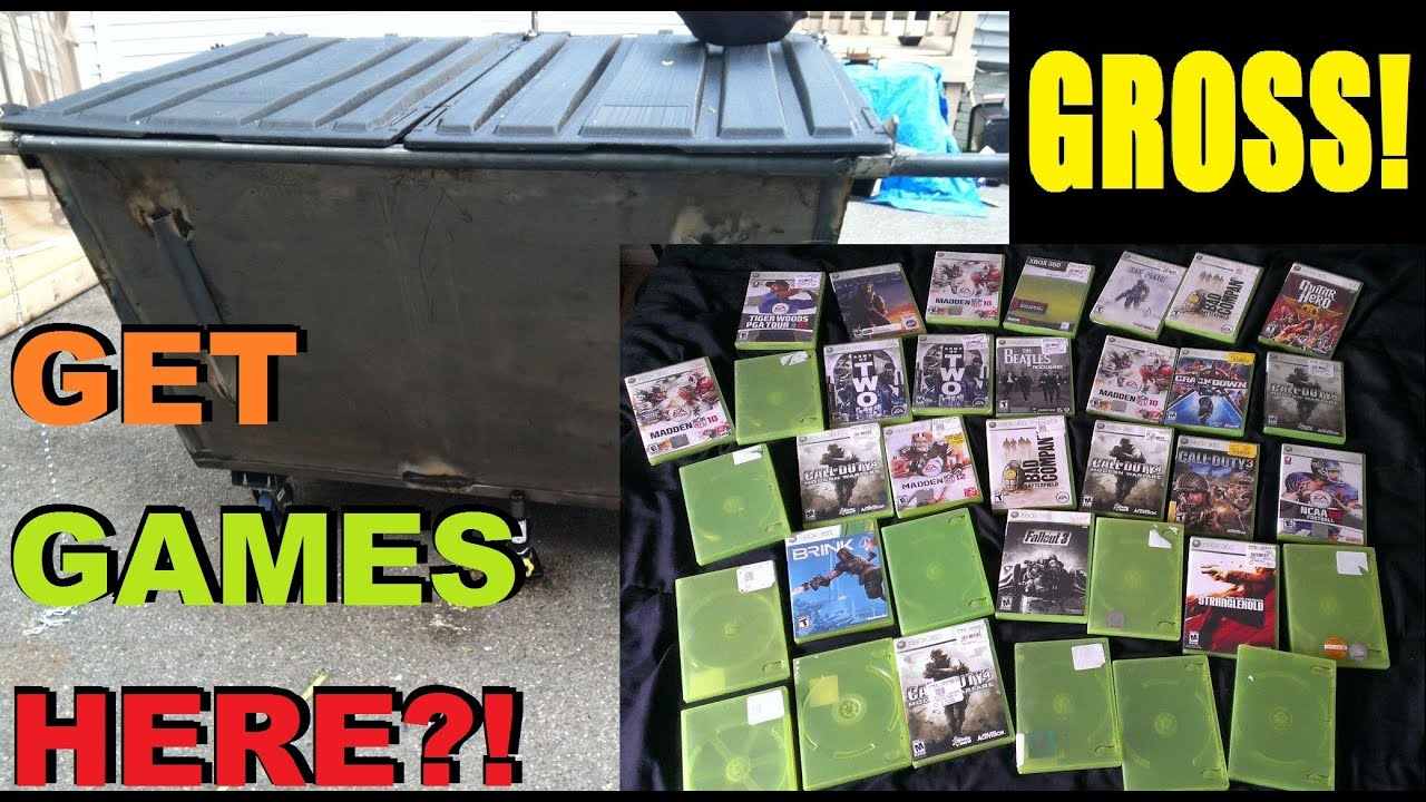 Video Game Dumpster Diving Is Disgusting Used Games