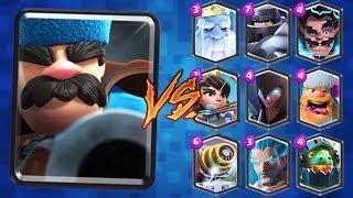 Clash Royale Hunter vs All Cards | Hunter Gameplay