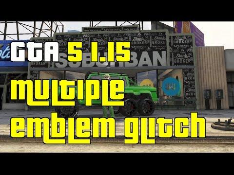 GTA 5 Online New Multiple Emblem Glitch 1.15